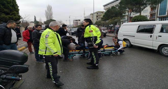 Soma'da Elektrikli Bisikleti Kaydırınca Kaza Geçirdi.