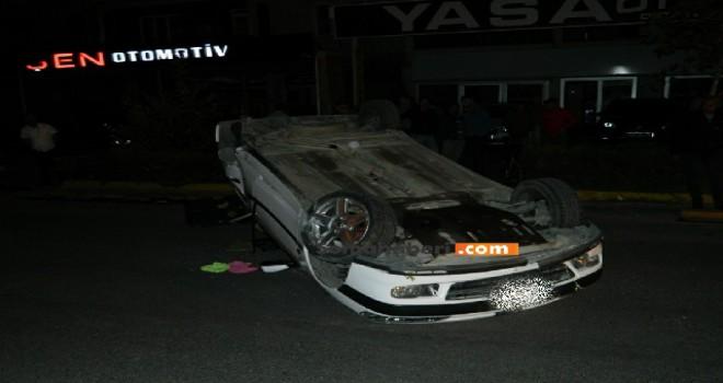 Takla Atan Araçta 1 Kişi Yaralandı.