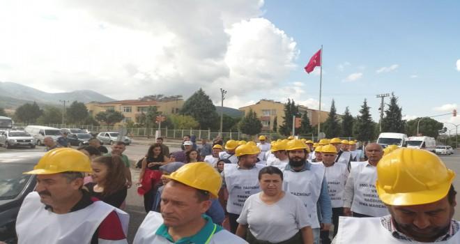 Maden İşçileri Tazminatları İçin Yürüdü